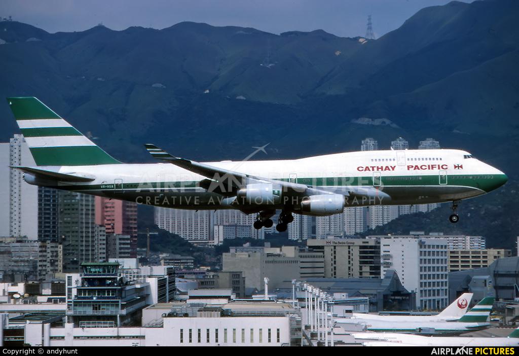 Cathay Pacific VR-HUA aircraft at HKG - Kai Tak Intl CLOSED