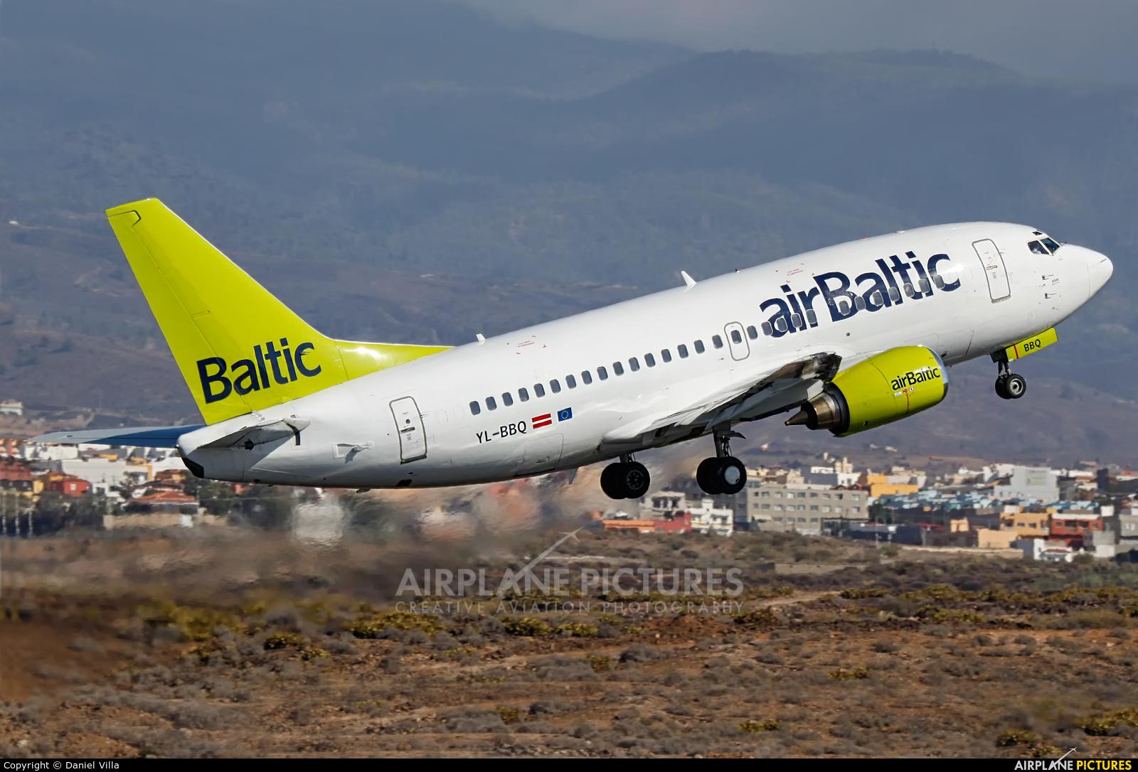Air Baltic YL-BBQ aircraft at Tenerife Sur - Reina Sofia