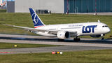 LOT - Polish Airlines Boeing 787-8 Dreamliner SP-LRC at Warsaw - Frederic Chopin airport
