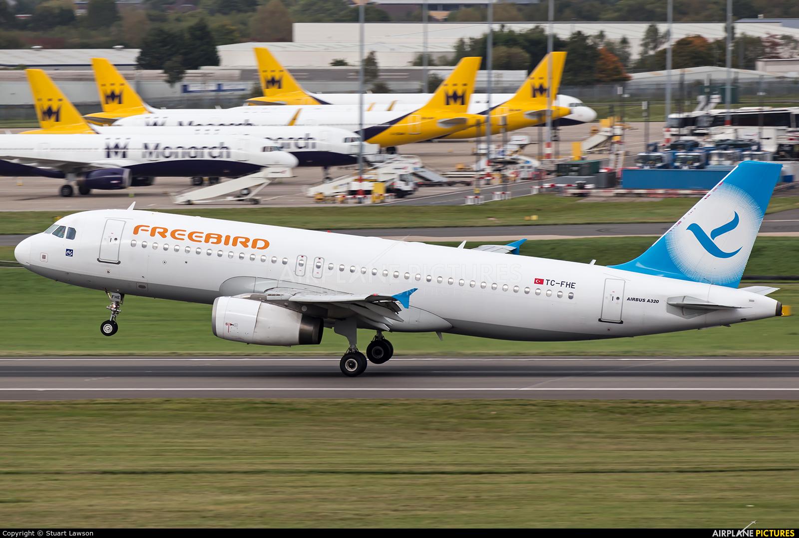 FreeBird Airlines TC-FHE aircraft at Birmingham