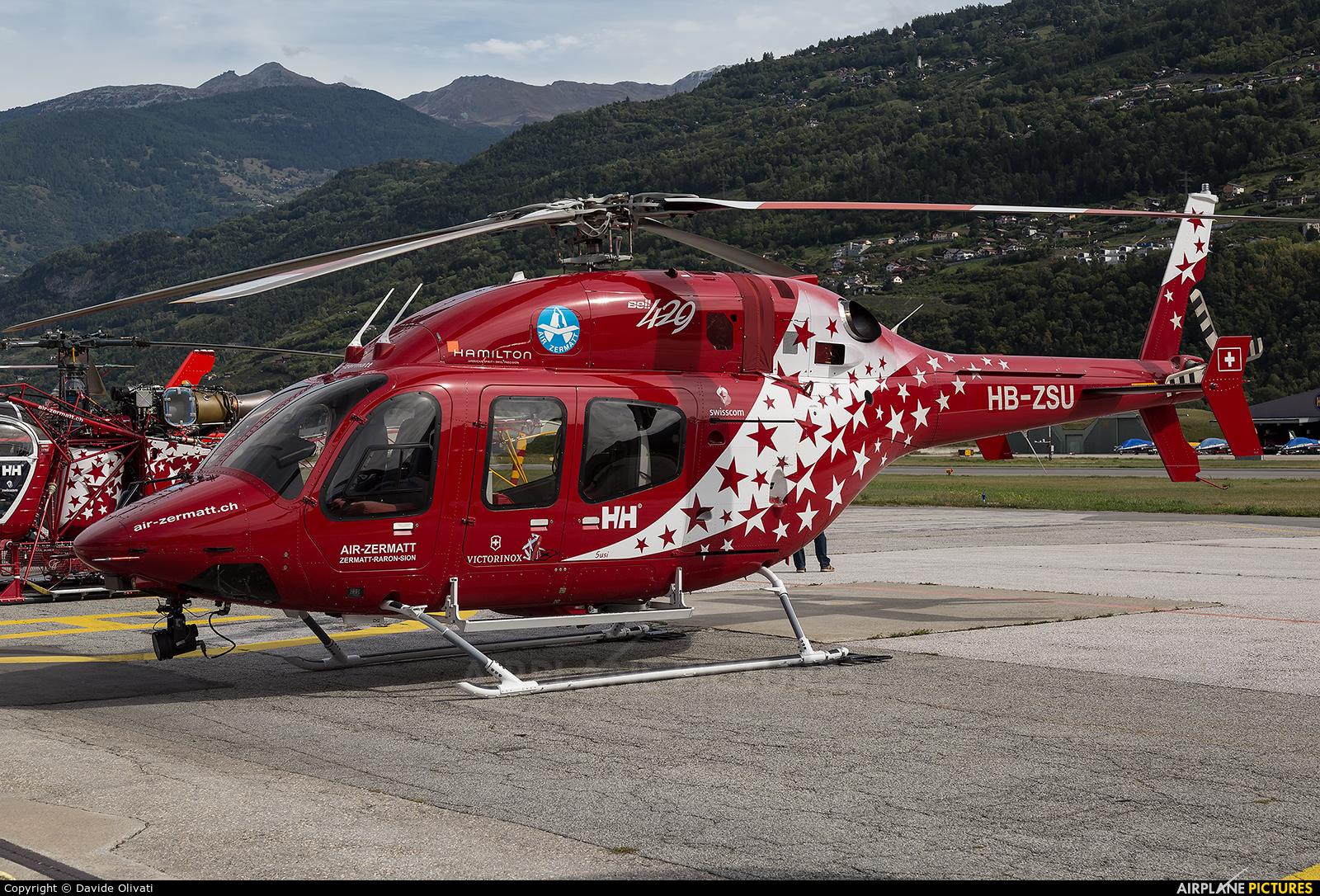 Air Zermatt HB-ZSU aircraft at Sion