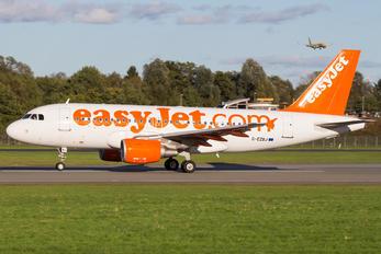 G-EZBJ - easyJet Airbus A319