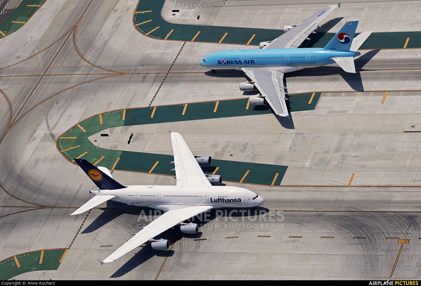 Lufthansa D-AIMM aircraft at Los Angeles Intl