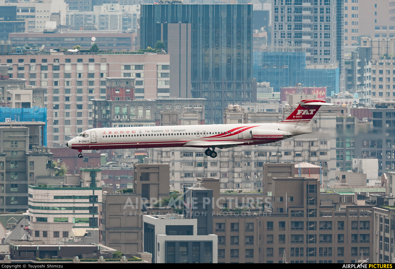 Far Eastern Air Transport B-28011 aircraft at Taipei - Sung Shan