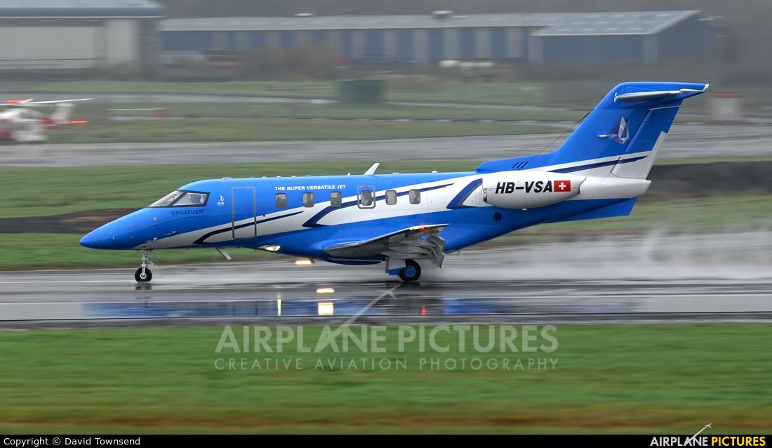 Pilatus HB-VSA aircraft at Prestwick