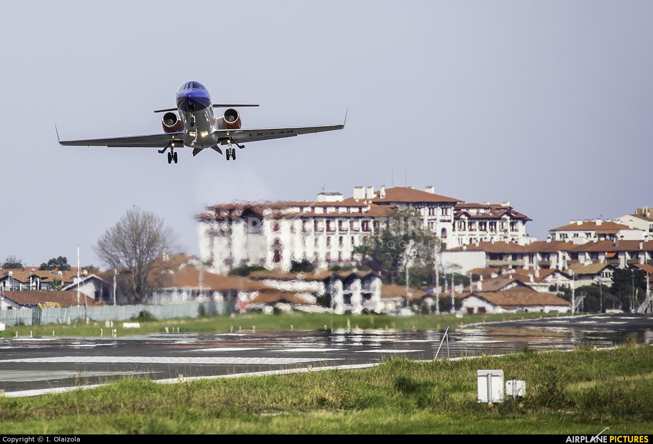 Luxembourg Air Rescue LX-LAR aircraft at San Sebastian