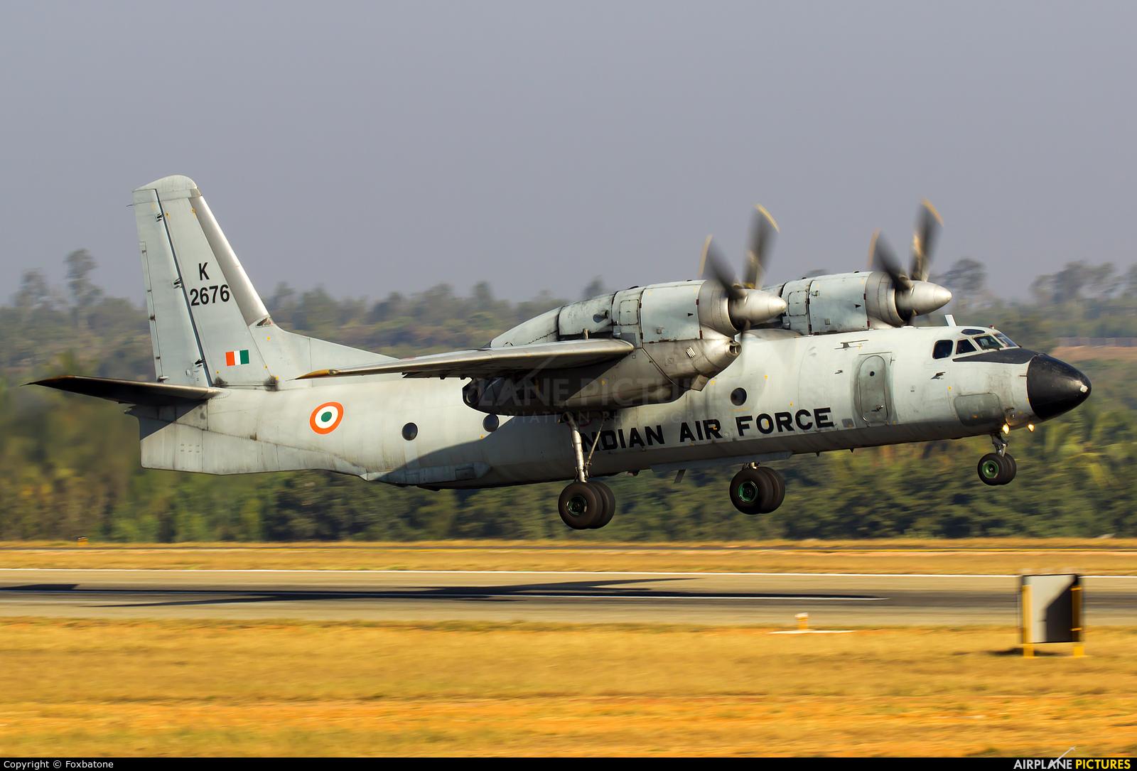 India - Air Force K2676 aircraft at Yelahanka AFB
