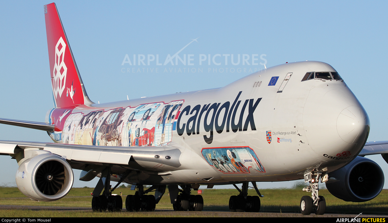 Cargolux LX-VCM aircraft at Luxembourg - Findel