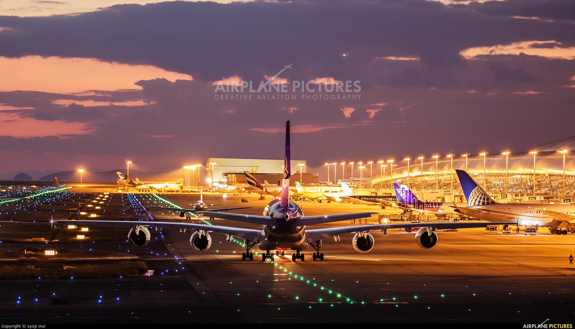 Thai Airways HS-TUE aircraft at Kansai Intl