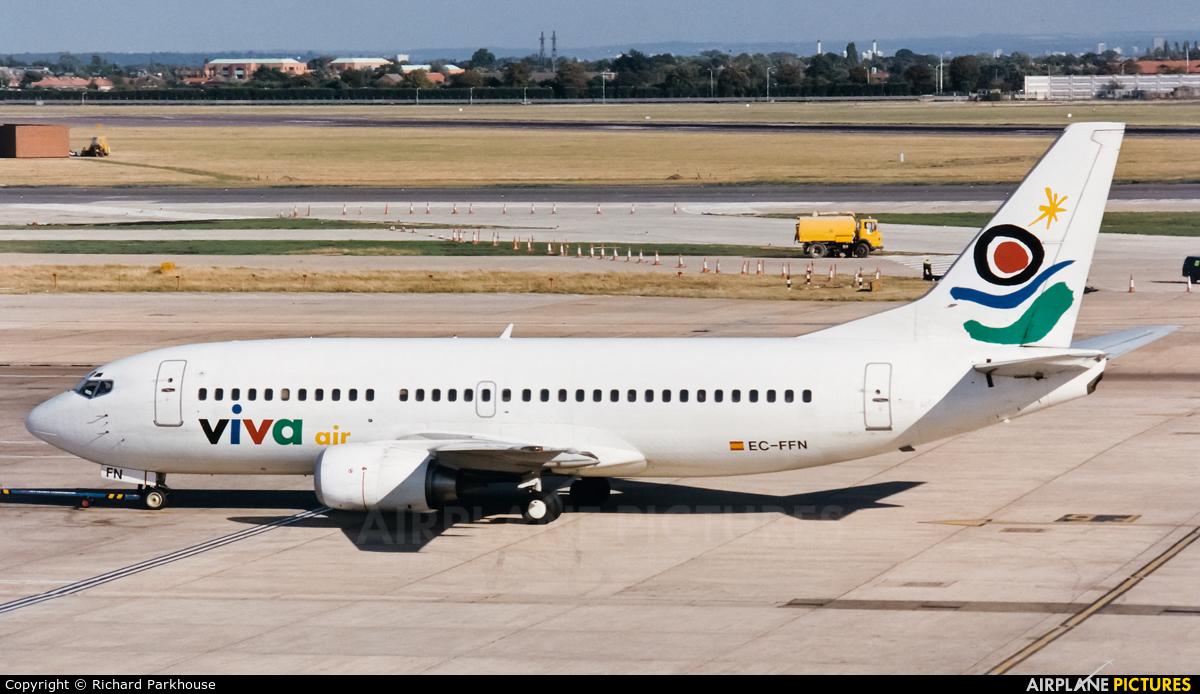 Viva Air EC-FFN aircraft at London - Heathrow