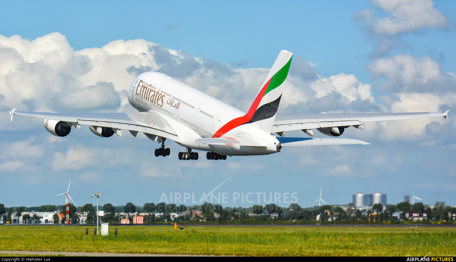 Emirates Airlines A6-EOX aircraft at Amsterdam - Schiphol