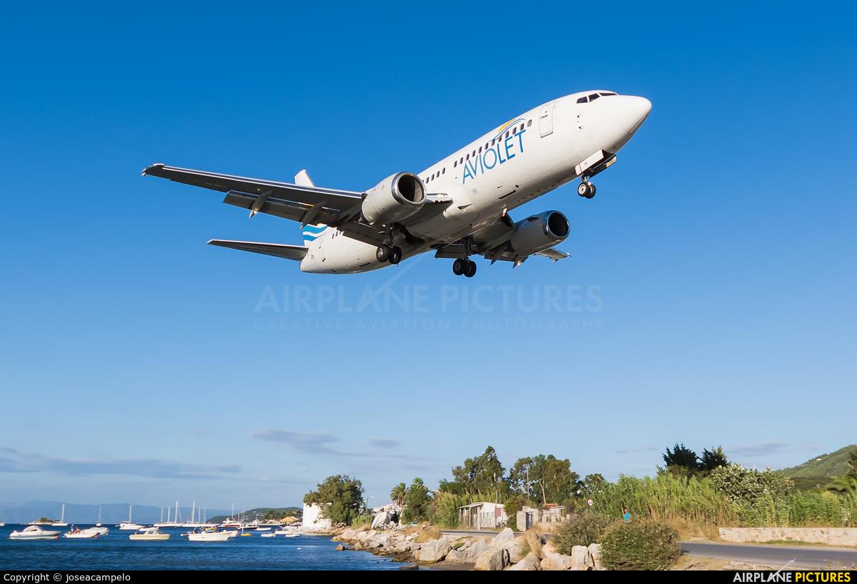 Aviolet YU-ANI aircraft at Skiathos