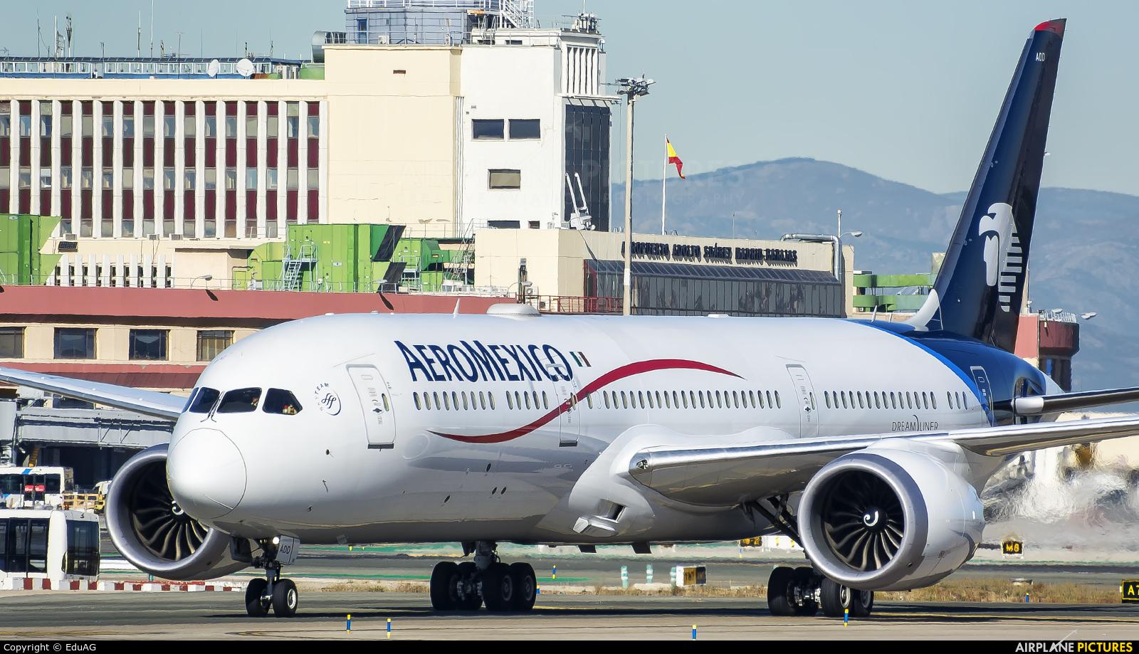 Aeromexico XA-ADD aircraft at Madrid - Barajas