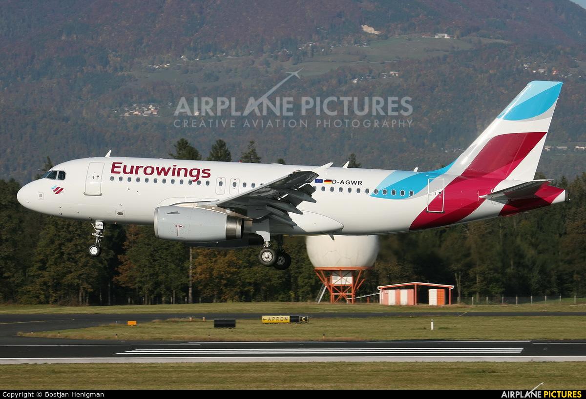 Eurowings D-AGWR aircraft at Ljubljana - Brnik