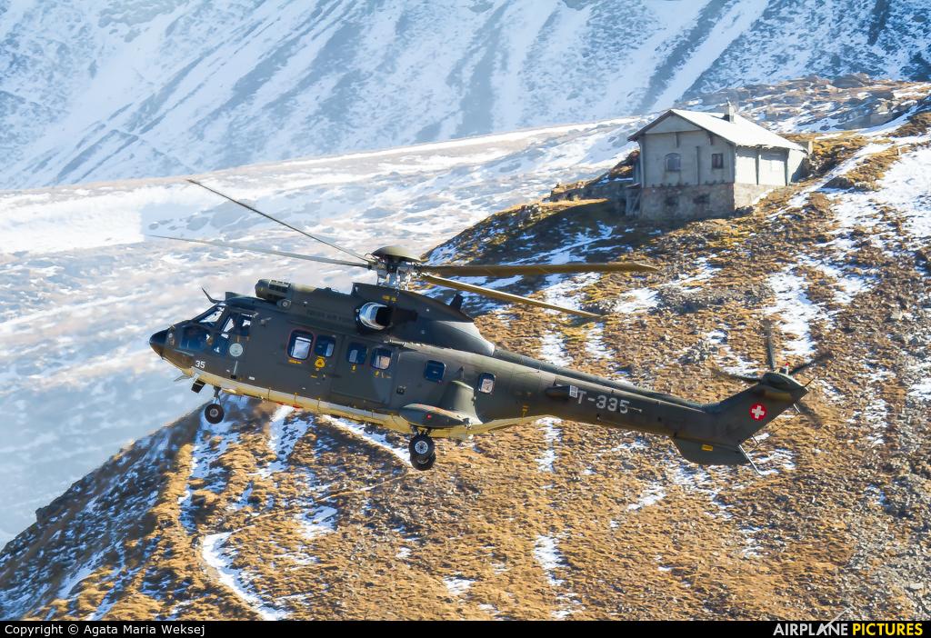Switzerland - Air Force T-335 aircraft at Axalp - Ebenfluh Range