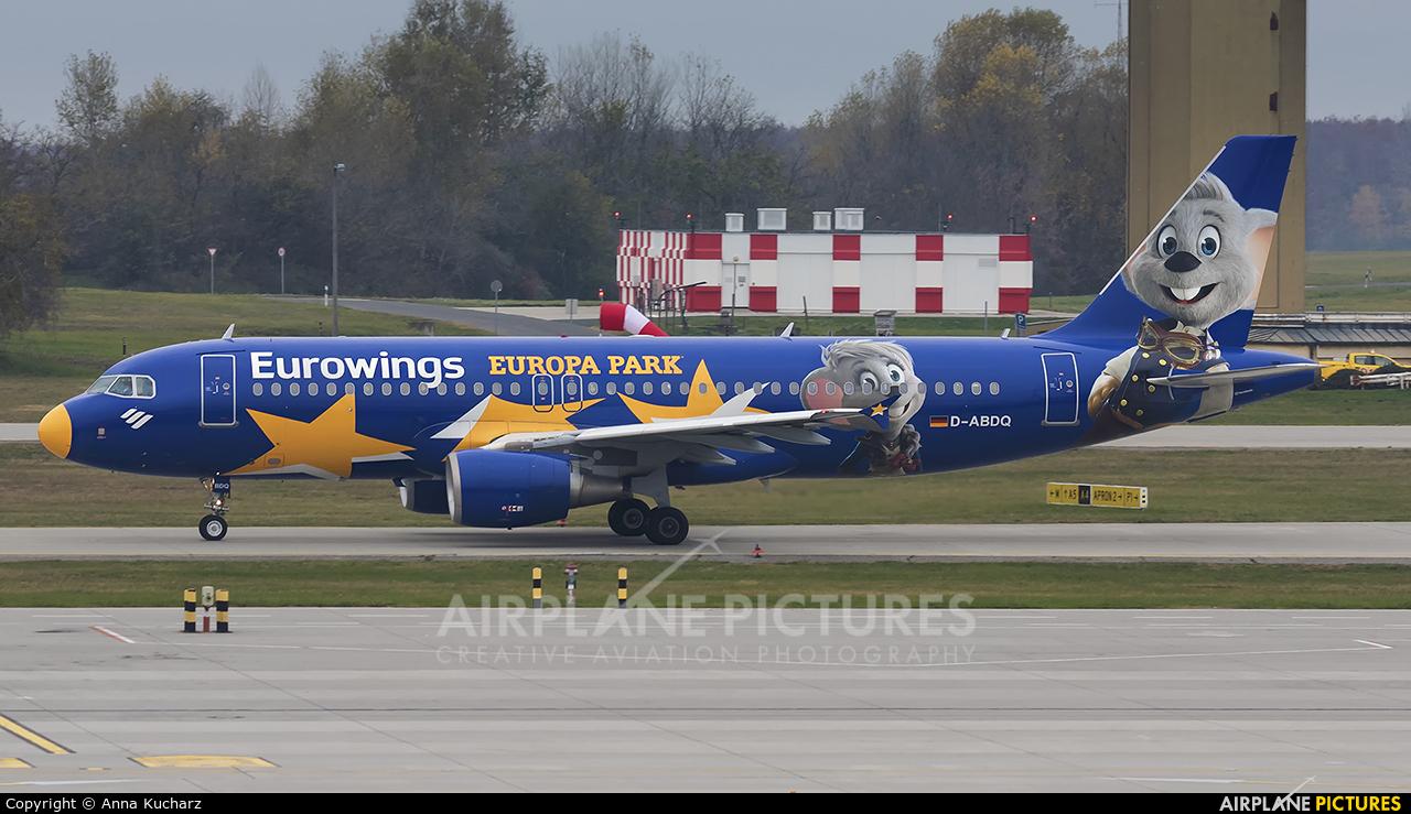 Eurowings D-ABDQ aircraft at Budapest Ferenc Liszt International Airport