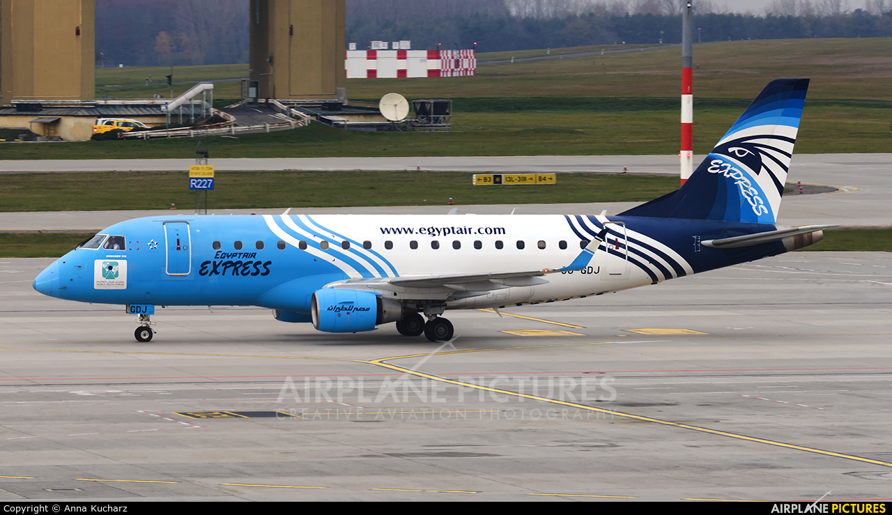 Egyptair Express SU-GDJ aircraft at Budapest Ferenc Liszt International Airport
