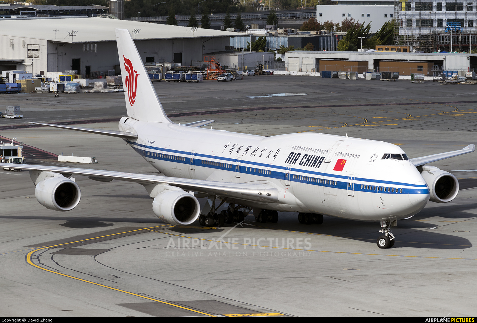 Air China B-2485 aircraft at San Francisco Intl