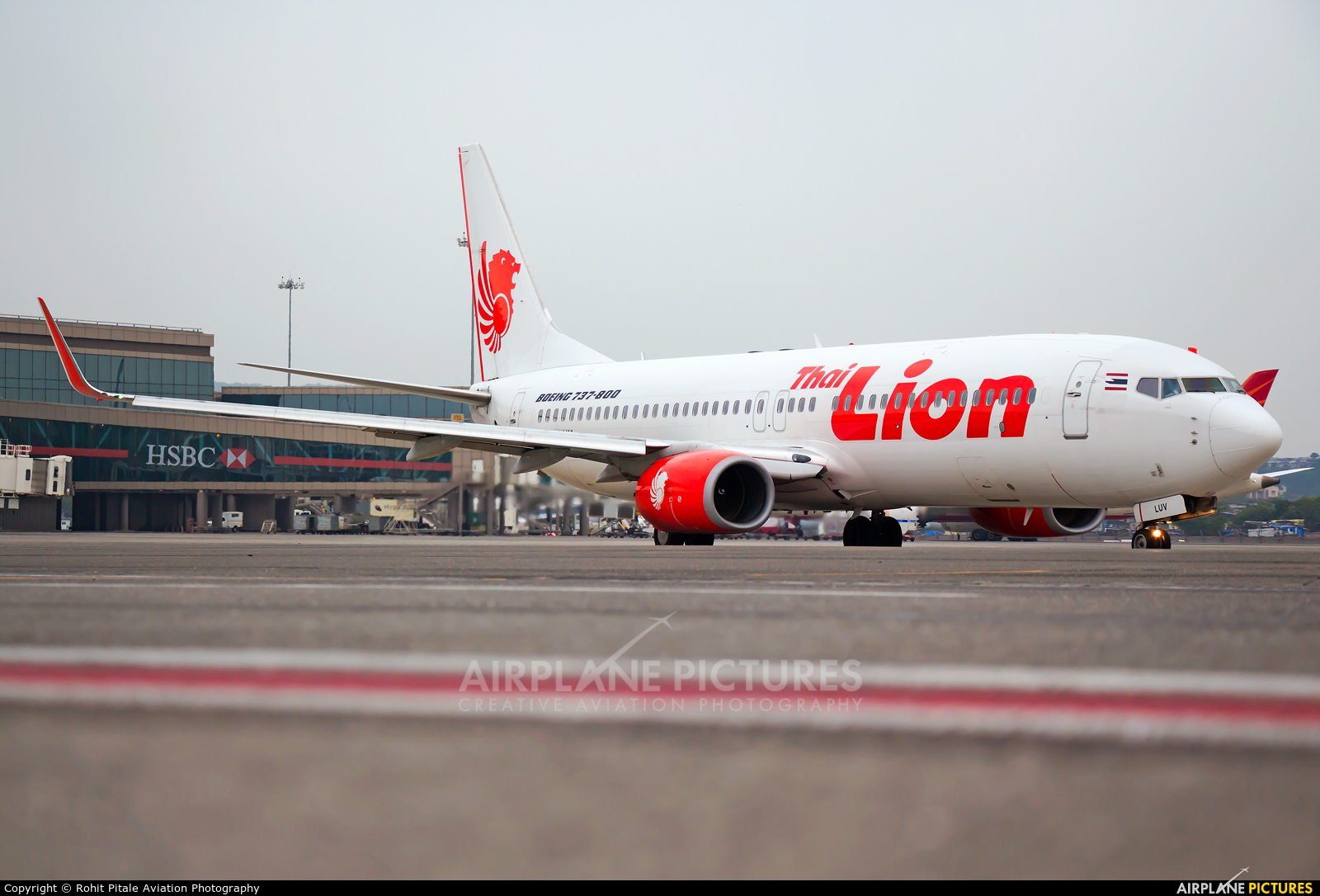Thai Lion Air HS-LUV aircraft at Mumbai - Chhatrapati Shivaji Intl