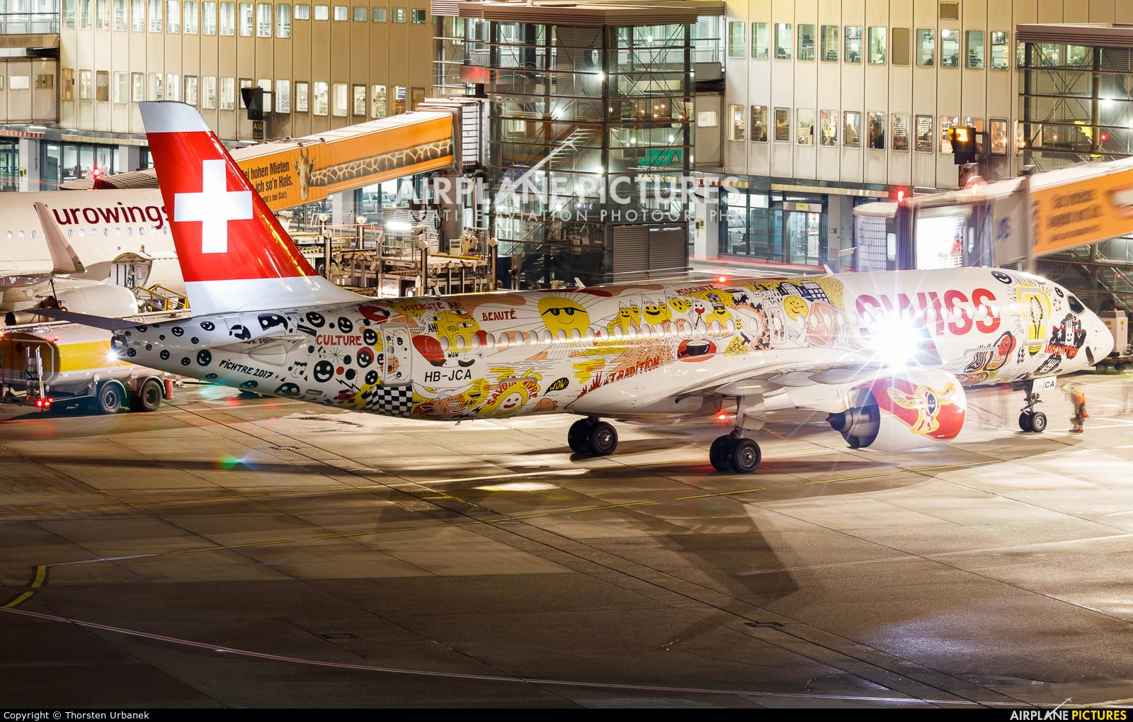 Swiss HB-JCA aircraft at Düsseldorf