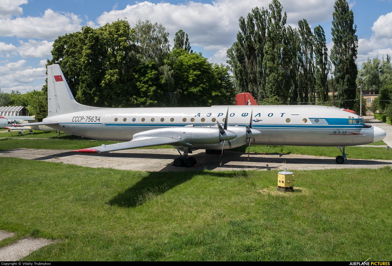 Aeroflot CCCP-75634 aircraft at Kyiv - Zhulyany