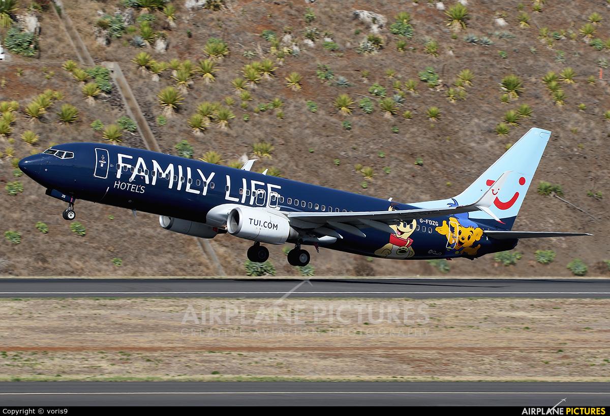 TUI Airways G-FDZG aircraft at Madeira