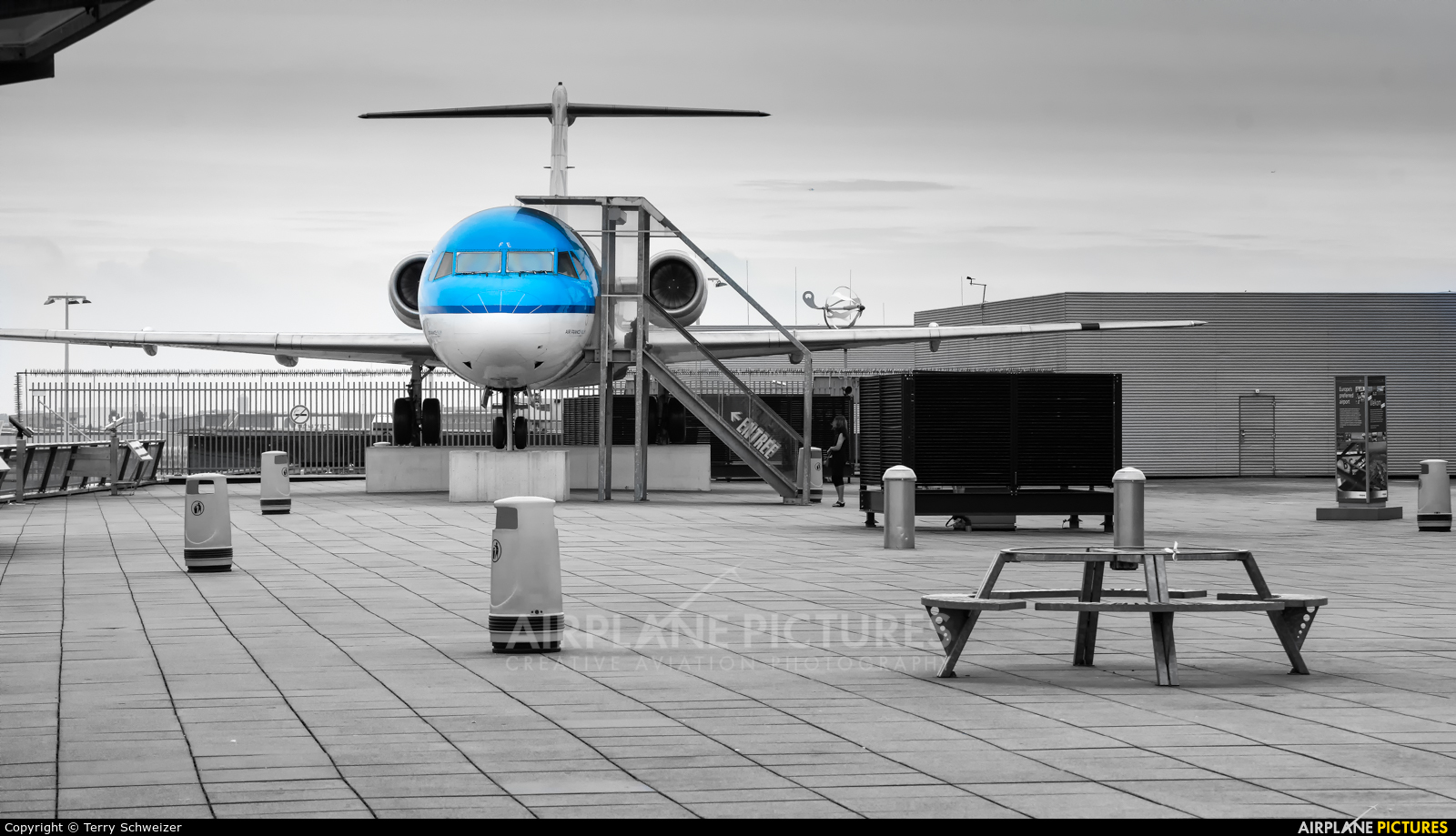 KLM Cityhopper PH-OFE aircraft at Amsterdam - Schiphol