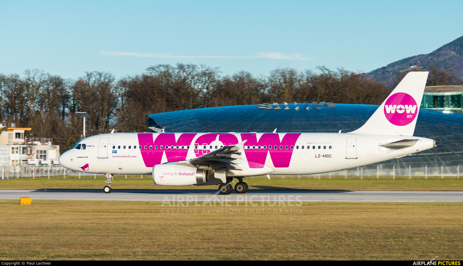 WOW Air LZ-MDC aircraft at Salzburg