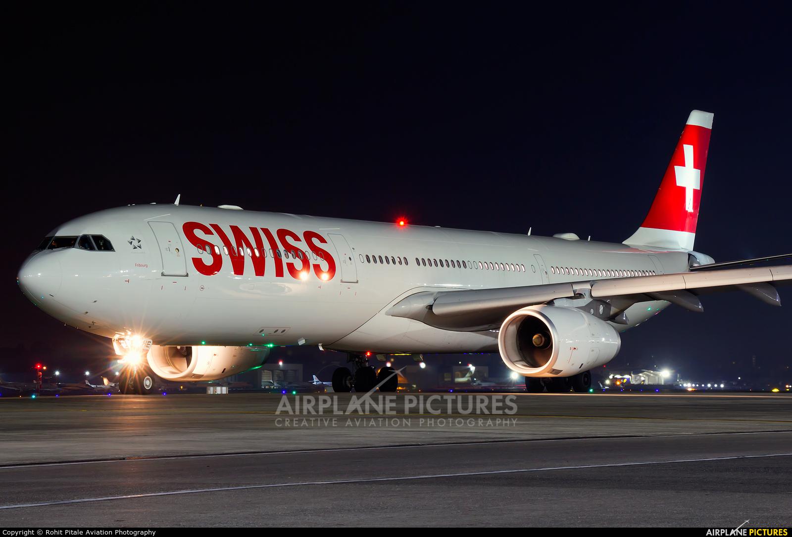Swiss HB-JHE aircraft at Mumbai - Chhatrapati Shivaji Intl