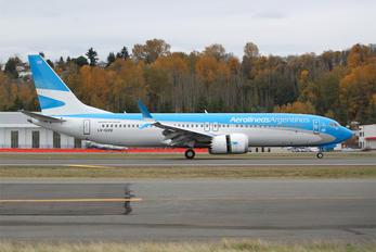 LV-GVD - Aerolineas Argentinas Boeing 737-8 MAX