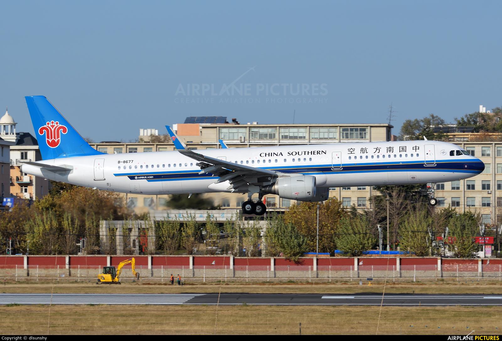 China Southern Airlines B-8677 aircraft at Dalian Zhoushuizi Int'l