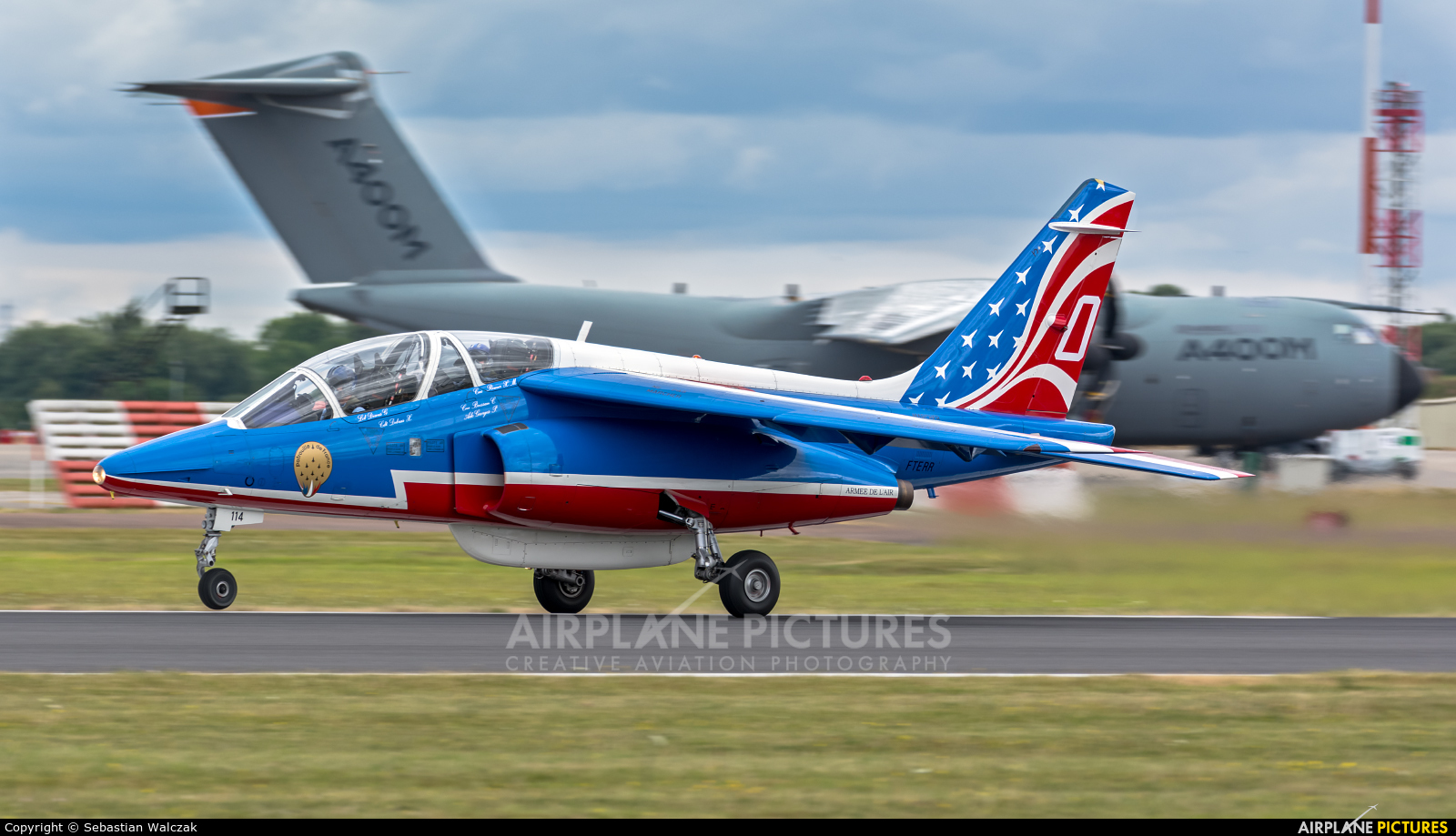 """France - Air Force """"Patrouille de France"""" F-TERR aircraft at Fairford"""
