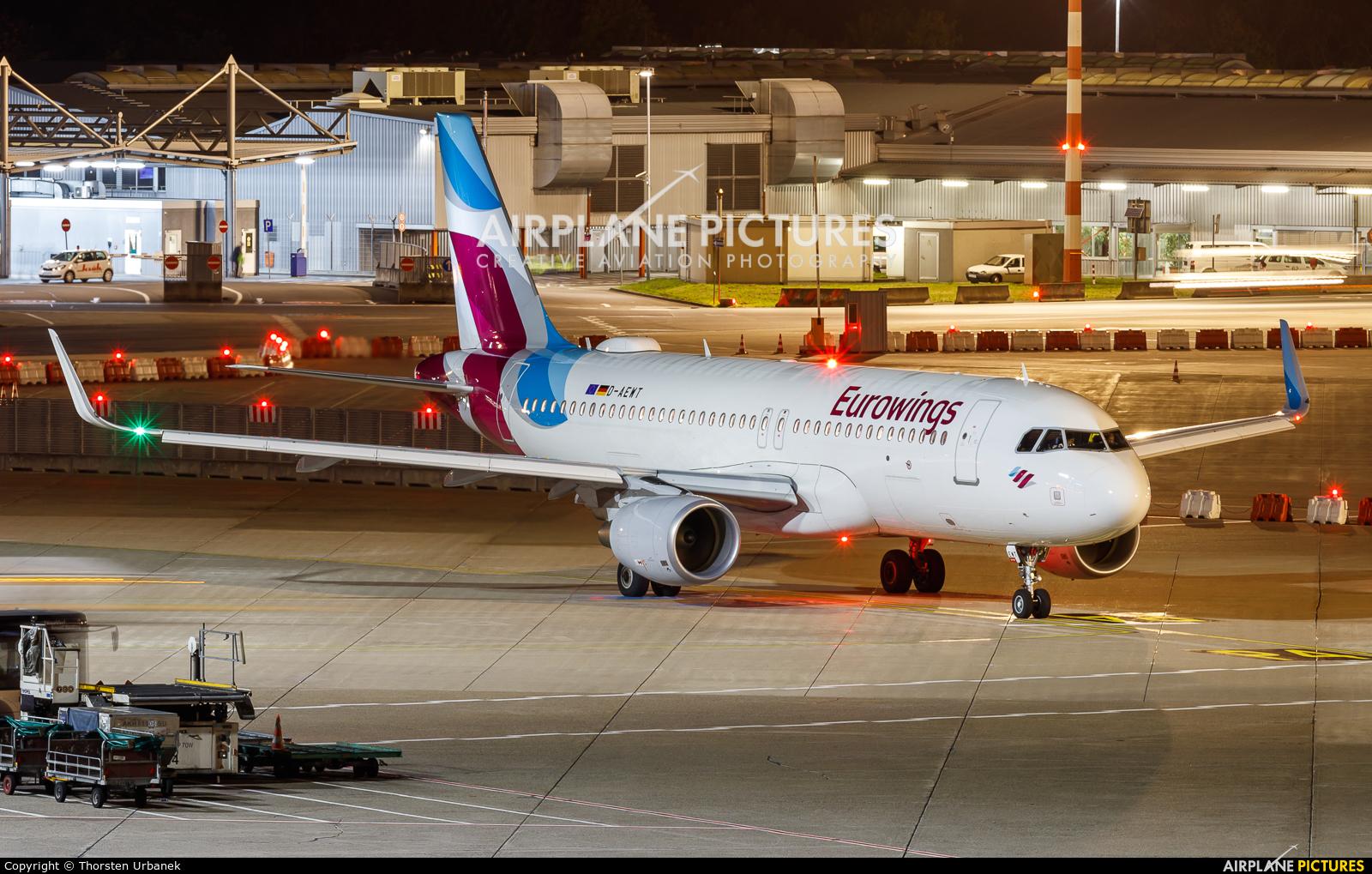 Eurowings D-AEWT aircraft at Düsseldorf