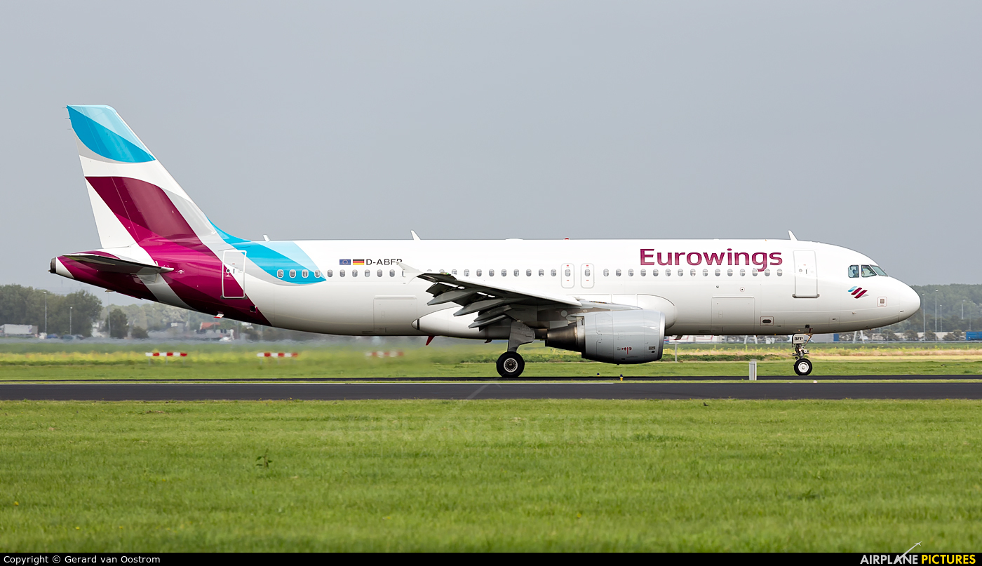 Eurowings D-ABFP aircraft at Amsterdam - Schiphol