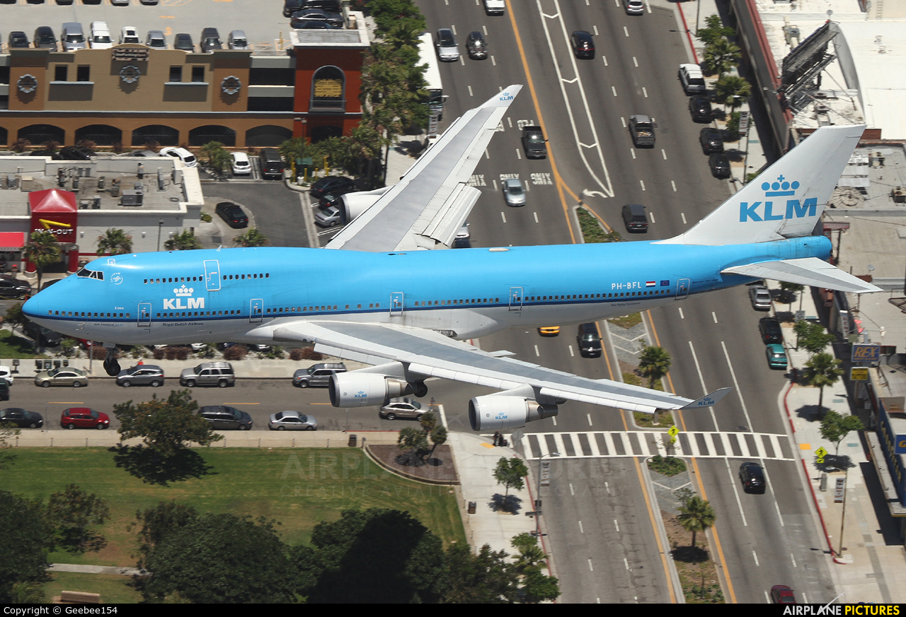 KLM PH-BFL aircraft at Los Angeles Intl