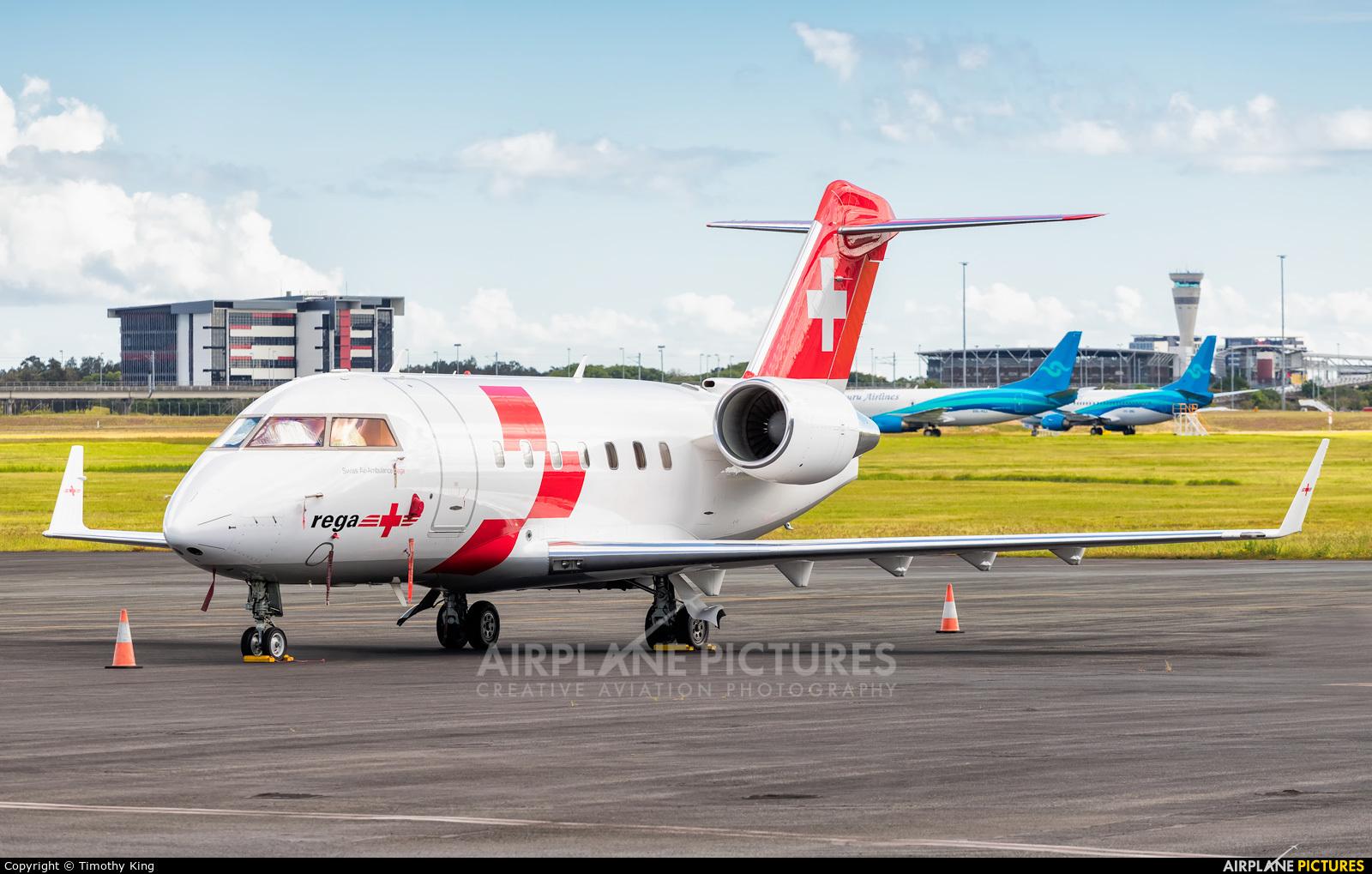 REGA Swiss Air Ambulance  HB-JRA aircraft at Brisbane, QLD