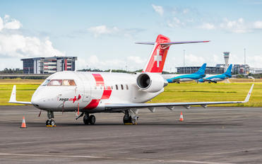 HB-JRA - REGA Swiss Air Ambulance  Canadair CL-600 Challenger 604