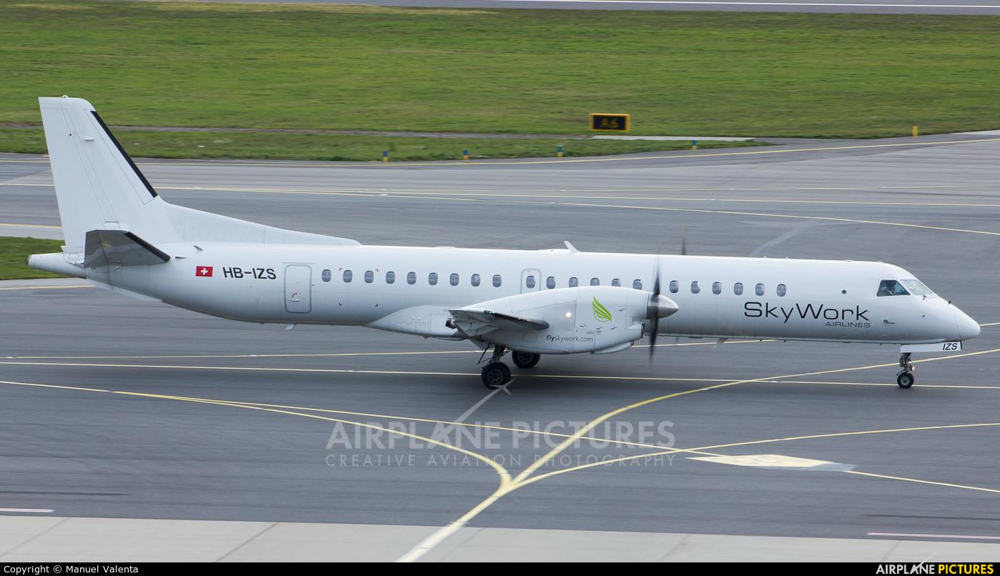 Sky Work Airlines HB-IZS aircraft at Vienna - Schwechat