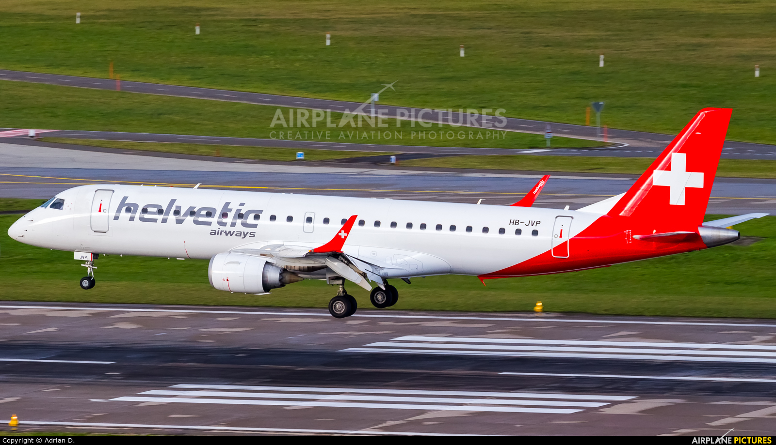 Helvetic Airways HB-JVP aircraft at Zurich