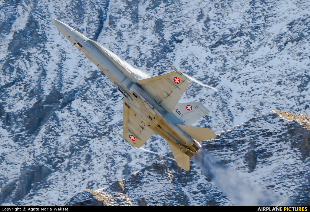 Switzerland - Air Force J-5014 aircraft at Axalp - Ebenfluh Range