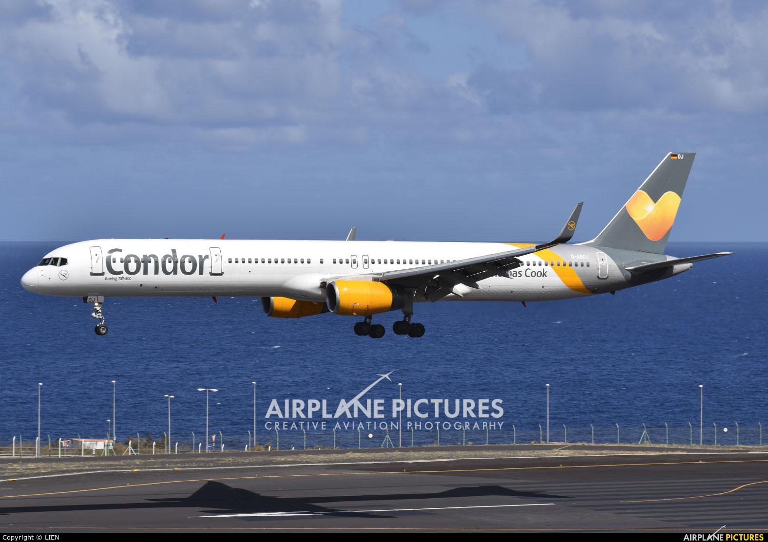 Condor D-ABOJ aircraft at Santa Cruz de La Palma