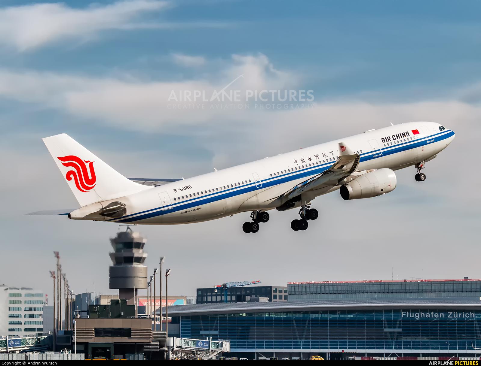 Air China B-6080 aircraft at Zurich