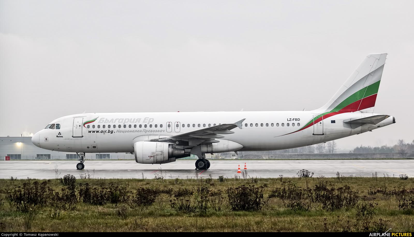 Bulgaria Air LZ-FBD aircraft at Rzeszów-Jasionka