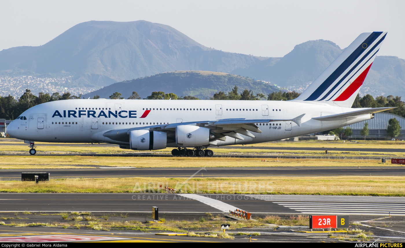 Air France F-HPJD aircraft at Mexico City - Licenciado Benito Juarez Intl