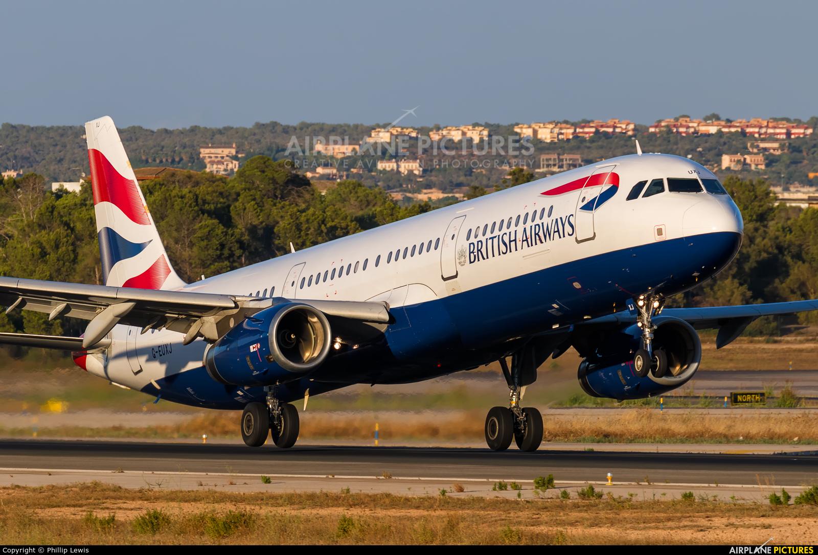 British Airways G-EUXJ aircraft at Palma de Mallorca