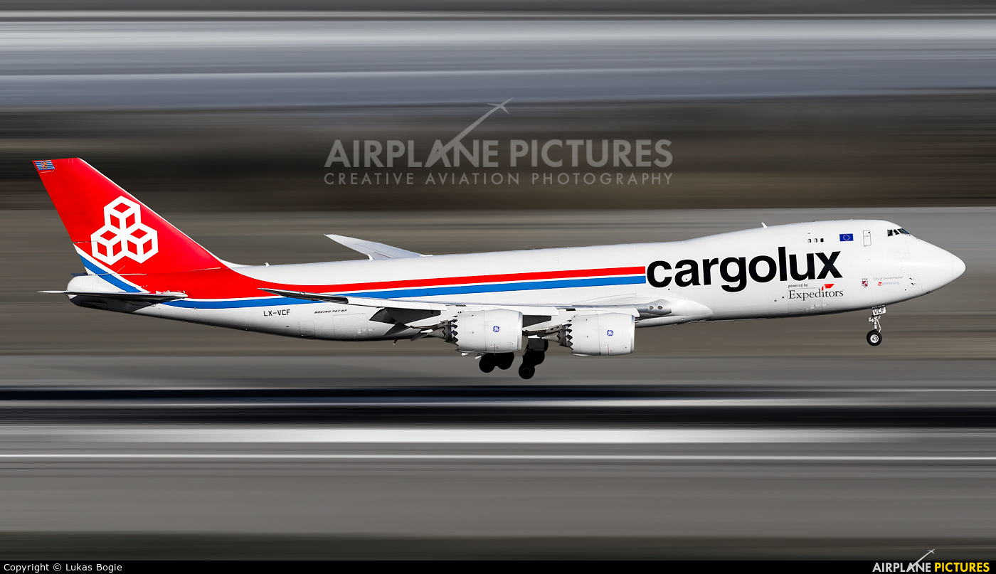 Cargolux LX-VCF aircraft at Anchorage - Ted Stevens Intl / Kulis Air National Guard Base