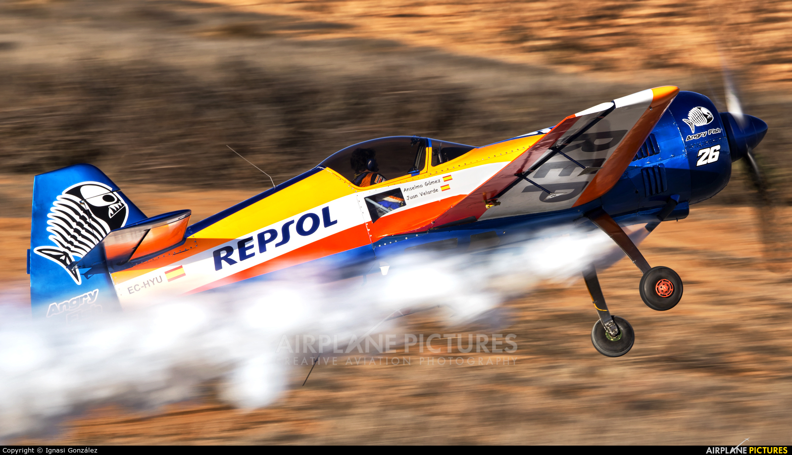 Bravo3/Repsol Team EC-HYU aircraft at Requena