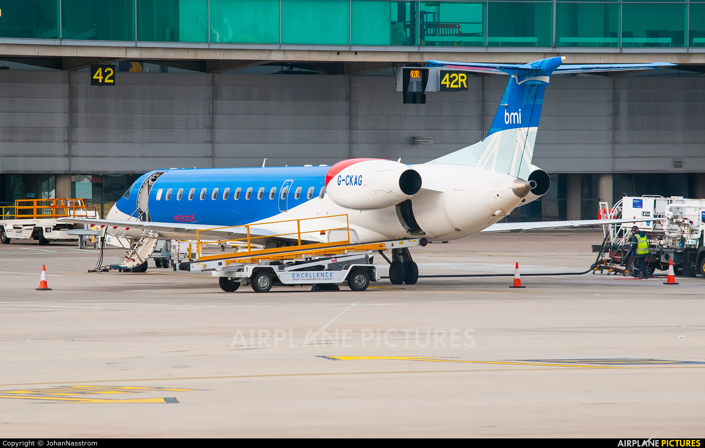 BMI Regional G-CKAG aircraft at London - Stansted
