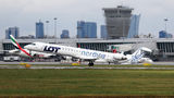 LOT - Polish Airlines Bombardier CRJ 900ER ES-ACJ at Warsaw - Frederic Chopin airport
