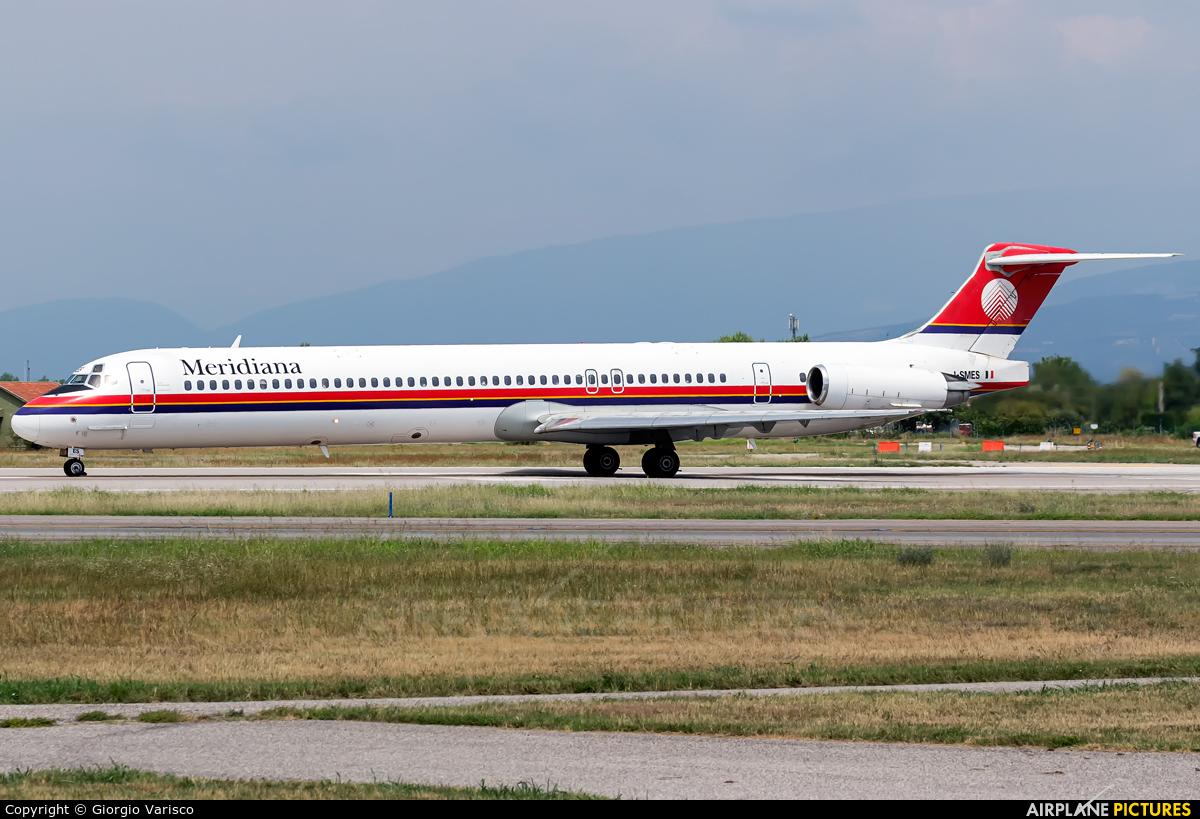 Meridiana I-SMES aircraft at Verona - Villafranca